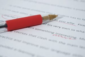 Proofread with a red-pen